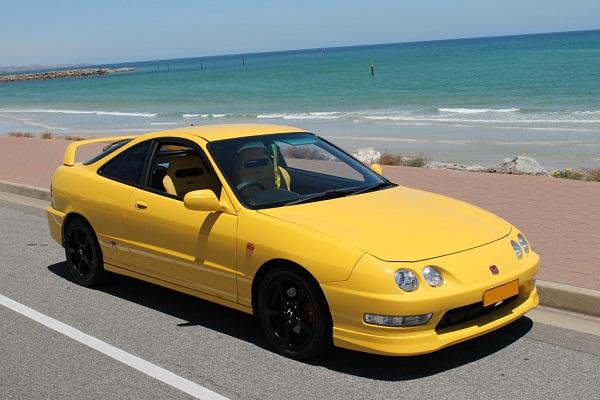 Sunlight Yellow Integra Type-r in Australia