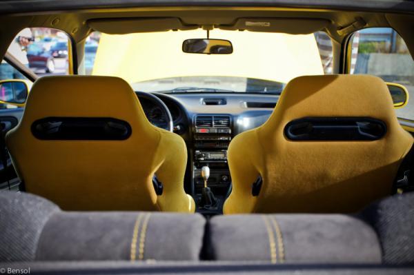 Swiss EDM Yellow Recaro's and interior
