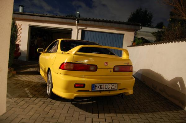 Sunlight Yellow EDM INtegra type-r back end