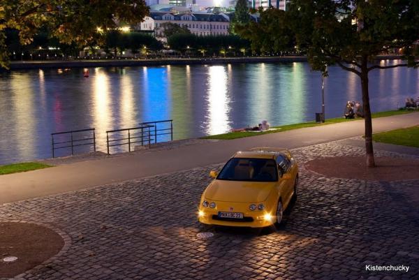 Swiss Honda Yellow Integra Type-R