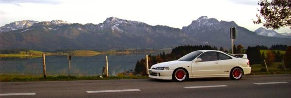EDM Integra Type-R mountain views