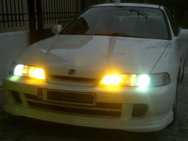 JDM front end with lights on