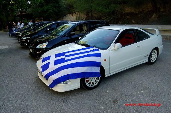 EDM Integra type-r with Greek flag
