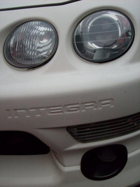 championship white 1998 EDM Integra Type-R front lights