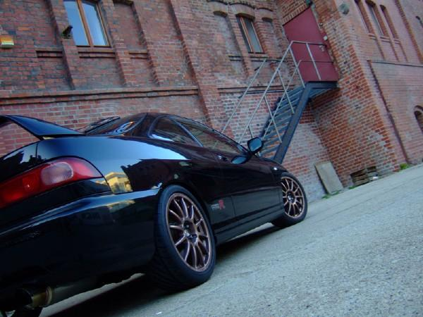 European Integra Type-R Starlight Black Pearl with Team Dynamics Pro Race 1.2 rims