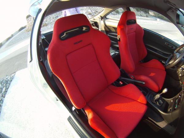 Honda Integra Type-R Red Recaro seats