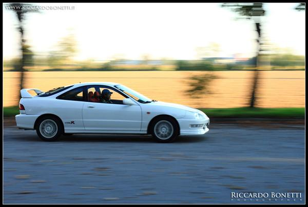 Championship Whire EDM Integra Type R cruising by