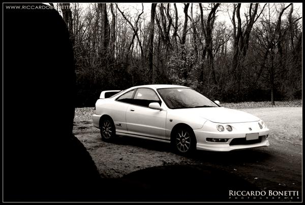 EDM Integra Type-R black and white