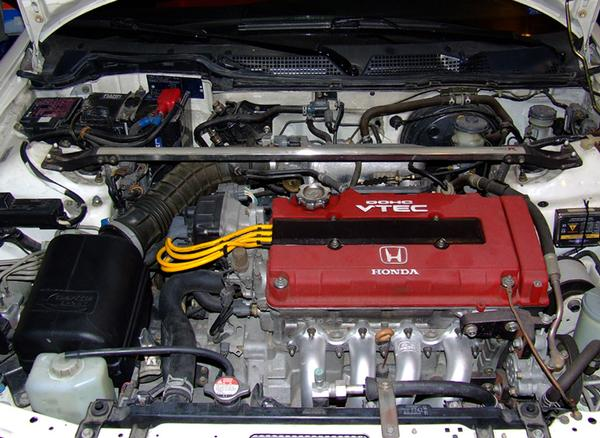 EDM Integra Type R engine bay
