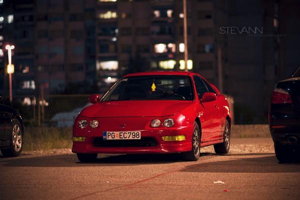 Milano Red EDM Integra Type-R at night