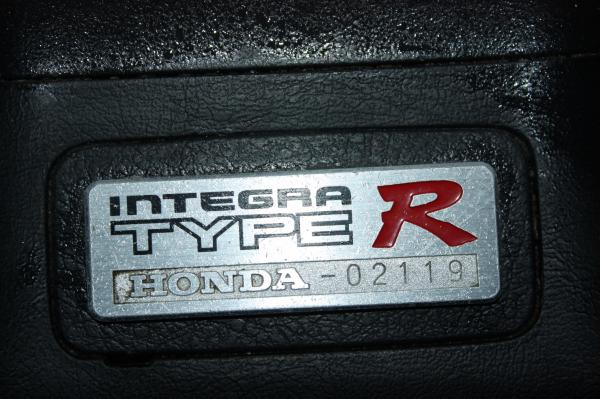 EDM Integra Type-R interior center console badge number 02119