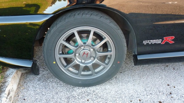 EDM Integra Type R gunmetal wheels