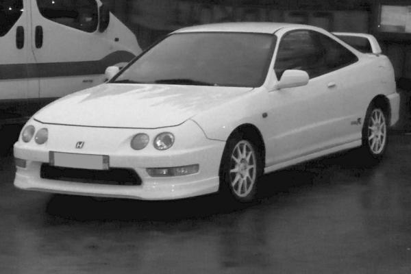 Champ White EDM Integra Type-R black and white