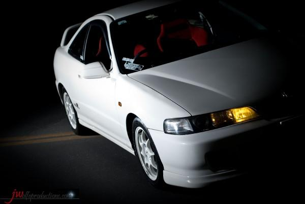 96 spec JDM Honda Integra Type R at night