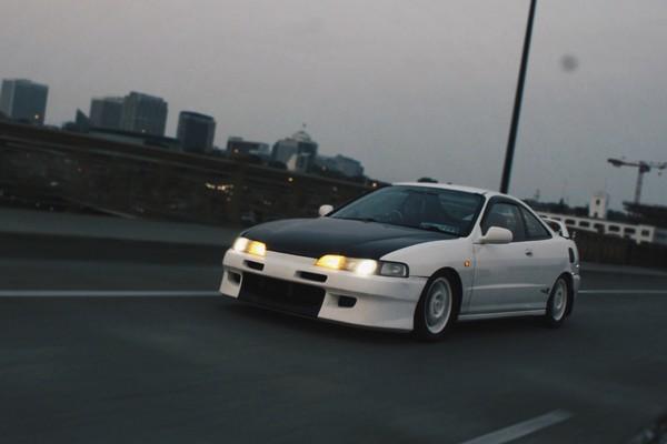 1996 JDM Honda Integra Type R highway driving