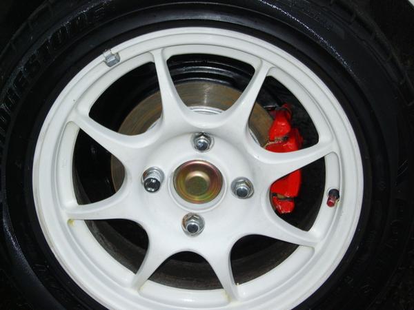 JDM Integra Type-r 4-lug white wheels