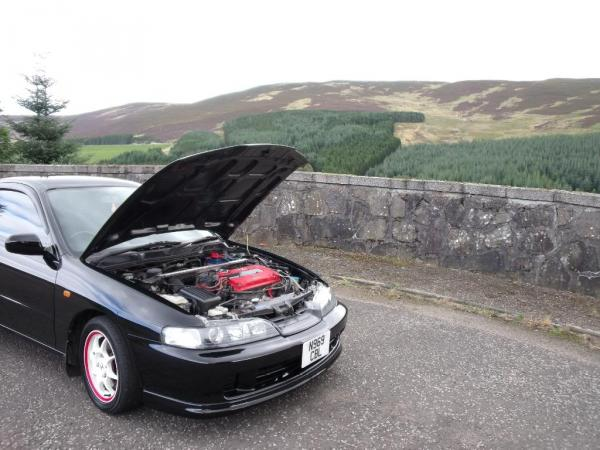 JDM 96' ITR with the hood popped