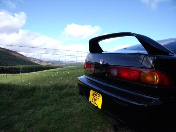 Scenic view beyond the 1996 GBP ITR back end