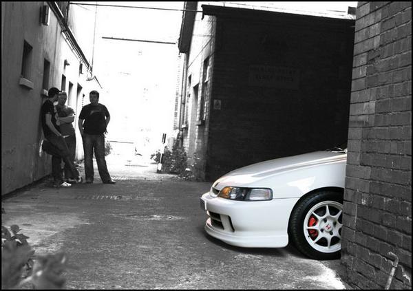 97 JDM Integra Type R in alley