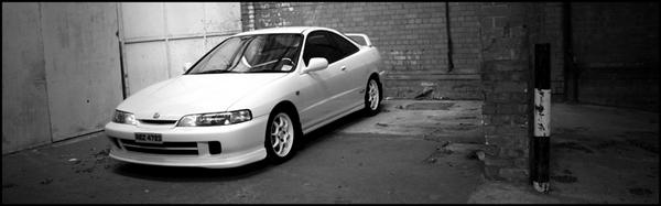 97 JDM Integra Type R wide black and white