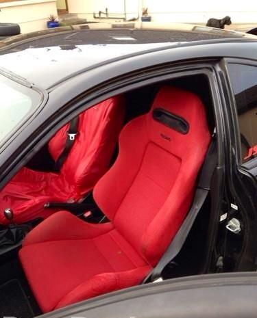 97 JDM Honda Integra Type R red recaros