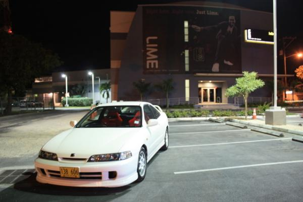 97 JDM Integra Type-r at night