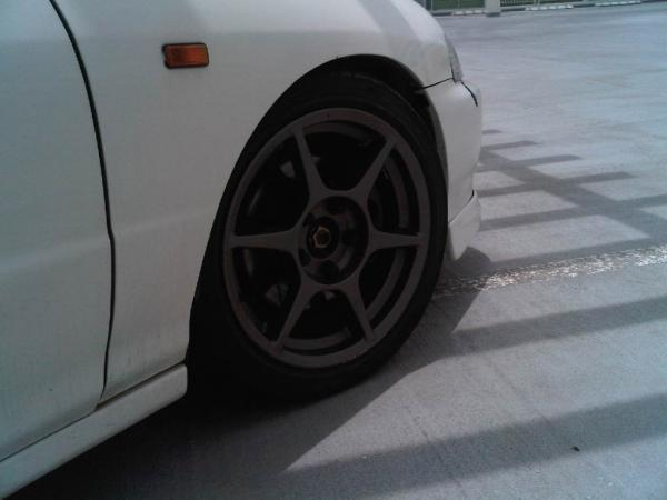 1998 JDM Integra Type R championship white aftermarket wheels