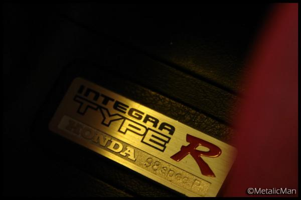 JDM Integra Type-r interior badge plaque