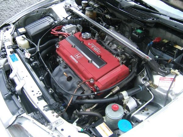 Satin Silver metallic 1998 JDM Integra Type R engine bay