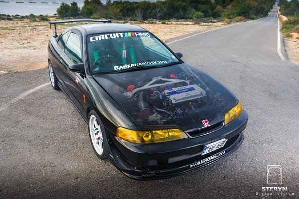 Starlight Black Pearl 1998 JDM Honda Integra Type-r clear hood