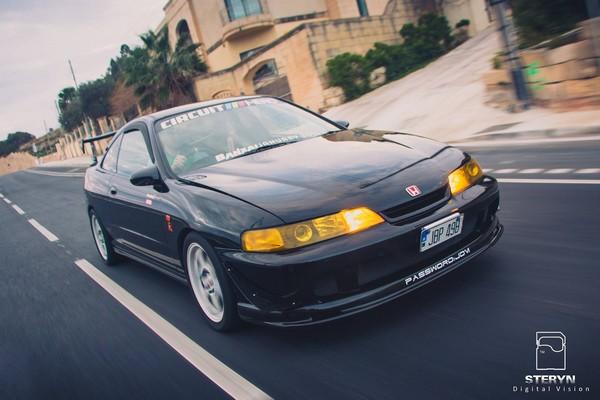 Starlight Black Pearl 1998 JDM Honda ITR driving