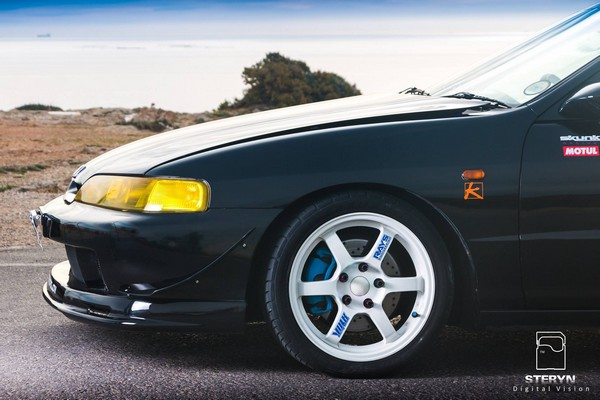 Starlight Black Pearl 1998 JDM Honda Integra Type-r volk/rays engineering rims