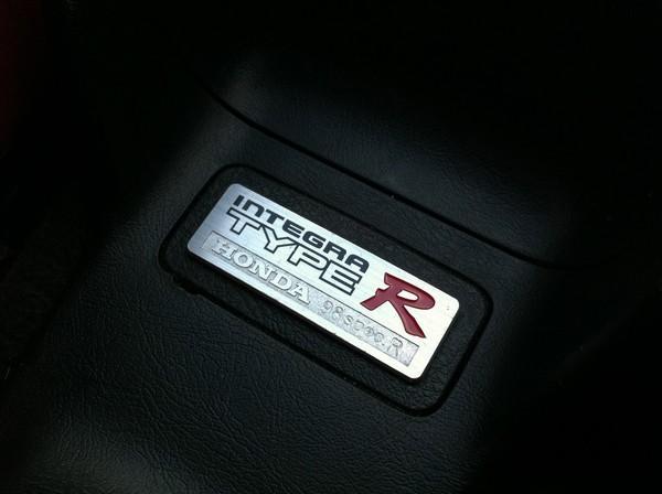 98-SpecR JDM Integra Type-r interior badge