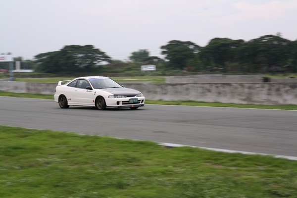 Left hand drive 1998 JDM Honda Integra Type-R at the track