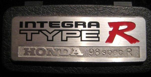 JDM Integra Type-R DC2 98-Spec interior badge