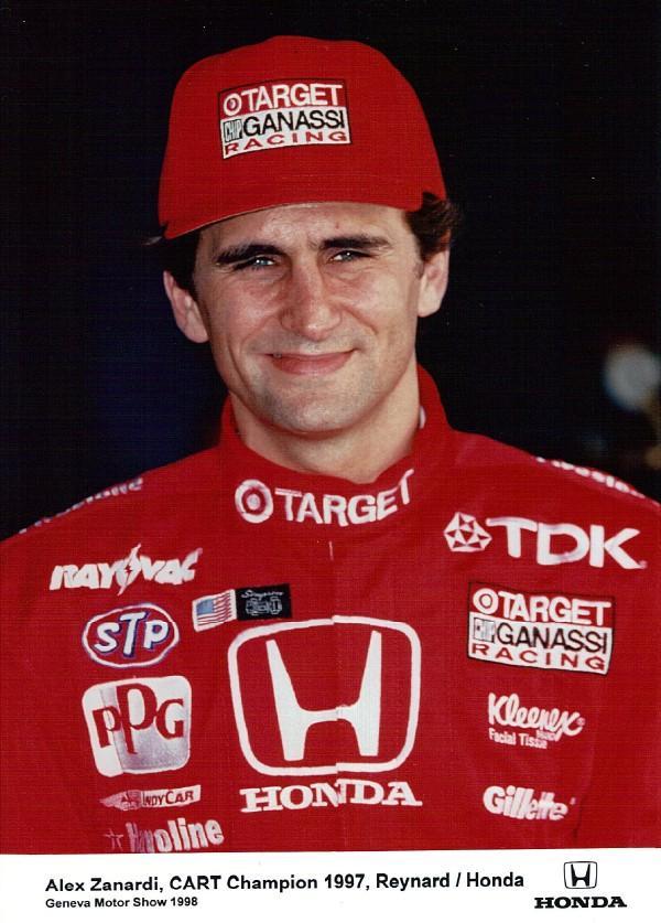 1998 Indy car cart champion Alex Zanardi