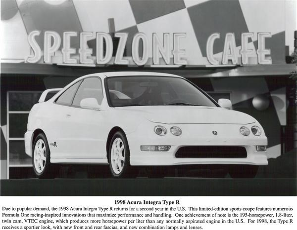 1998 Acura Integra Type-R Press Vehicle