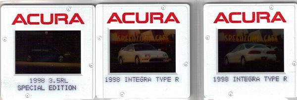 1998 Acura Integra Type-r press vehicle slides