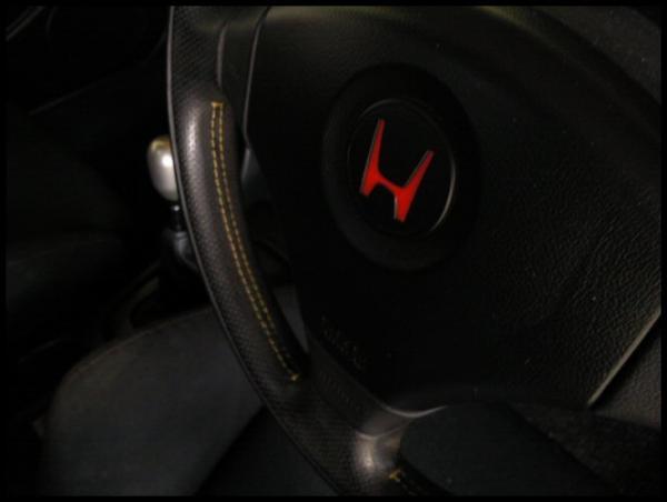 AUDM yellow stitching DC2 ITR steering wheel