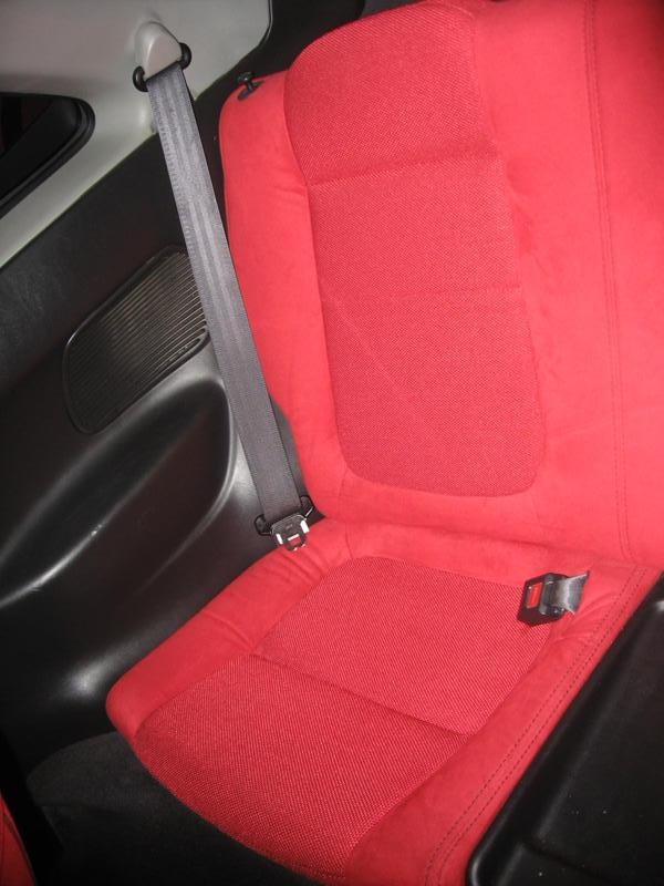 Canadian 2001 red back seats