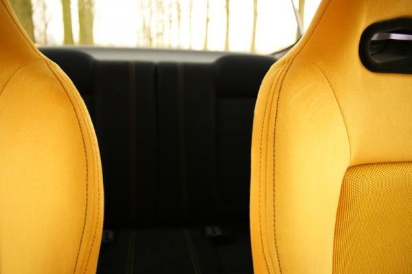Swiss Yellow interior seats