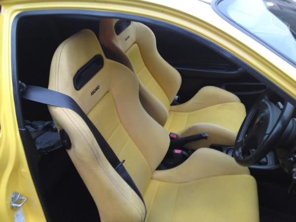 Japanese Yellow interior Recaro front seats
