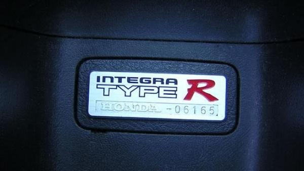UKDM Honda Integra Type-R interior badge