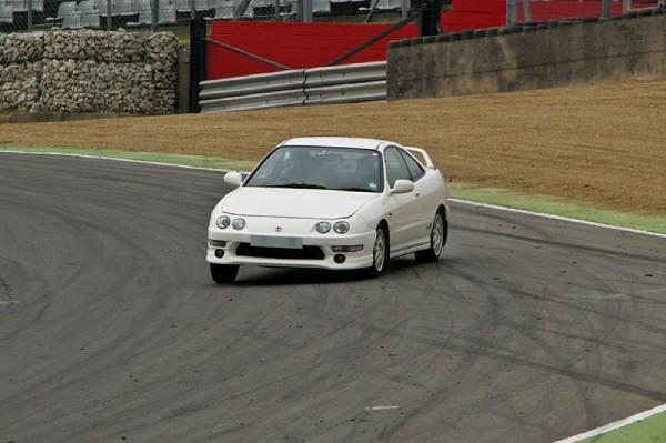 UKDM Integra Type-R on the race track