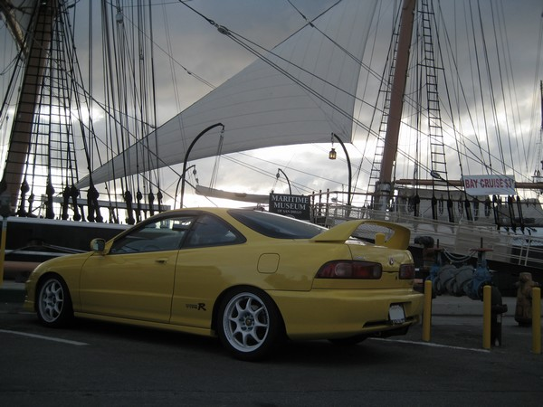 2000 Phoenix Yellow Acura Integra Type-R rear quarter