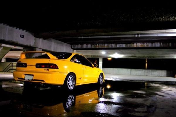 2000 Acura Integra Type-r phoenix yellow in the water