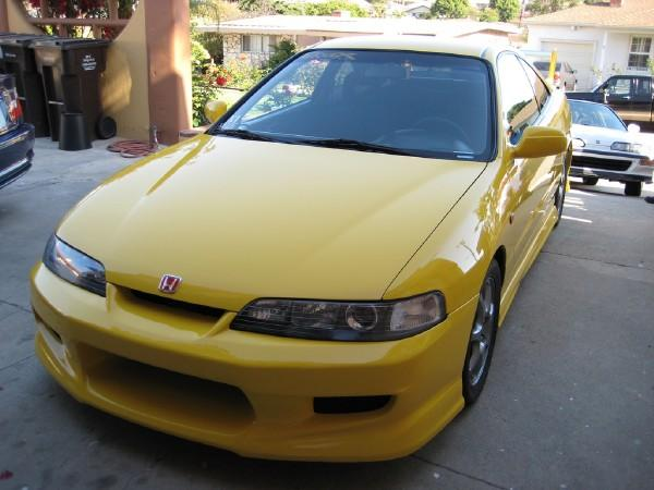 Phoenix Yellow 2000 Integra Type-R JDM front end C-West