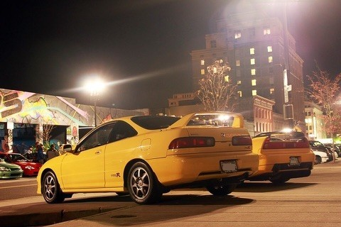 PY 2000 Integra Type-R with NSX (rear)