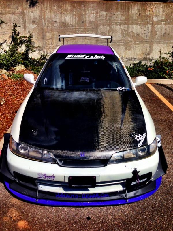 2000 Acura Integra Type-r purple roof canards carbon hood