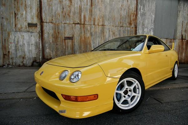 Phoenix Yellow Acura Integra TypeR